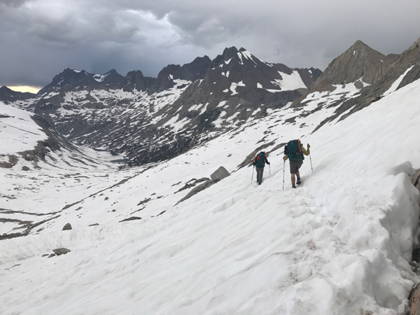 Getting through the Sierra Nevada Mountains in 2017 was more like mountaineering than hiking