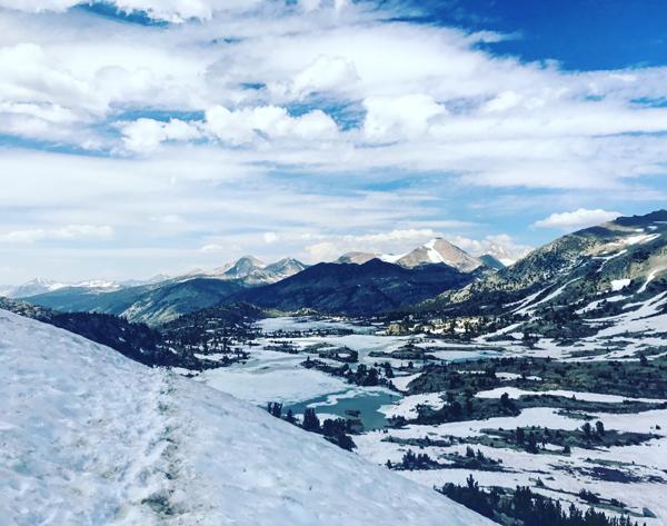 Tom Venuto pacific crest trail hike - Sierra Nevada high snow year (2017)