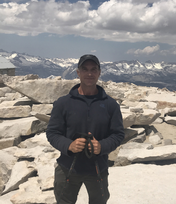 Tom Venuto pacific crest trail hike - summit of Mount Whitney