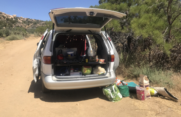 "Imagine walking through the desert in 95 degrees, and in the middle of nowhere, there's a van, a friendly couple, and they ask if you want a Coke and some watermelon... That's ""trail magic!"""