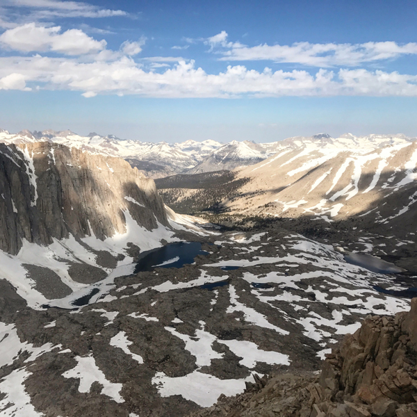 The high Sierra, looking West from Mount Whitney