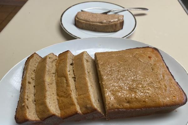 protein banana bread loaf by Tom Venuto