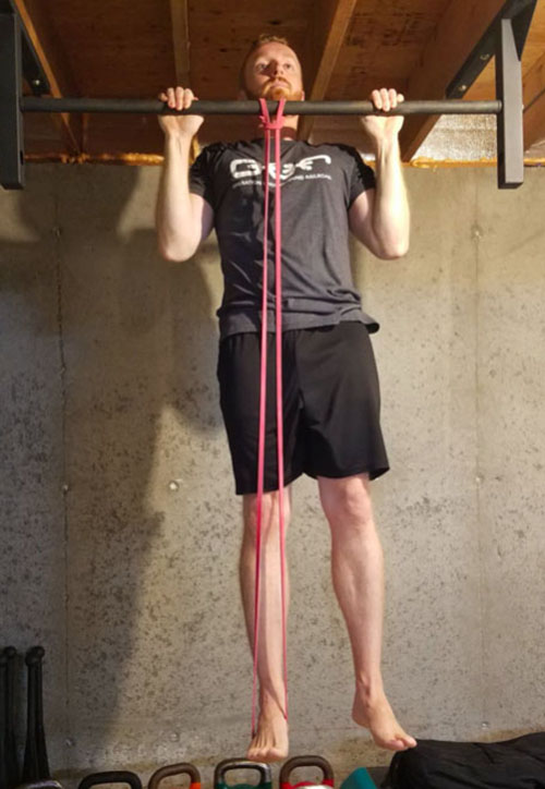 Band assisted pull-up top position