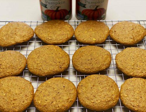 Healthy Pumpkin Spice Soft Protein Cookies