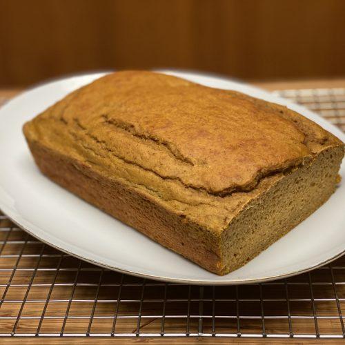 Pumpkin spice protein bread