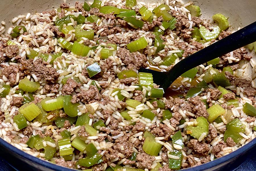 One pot creole rice