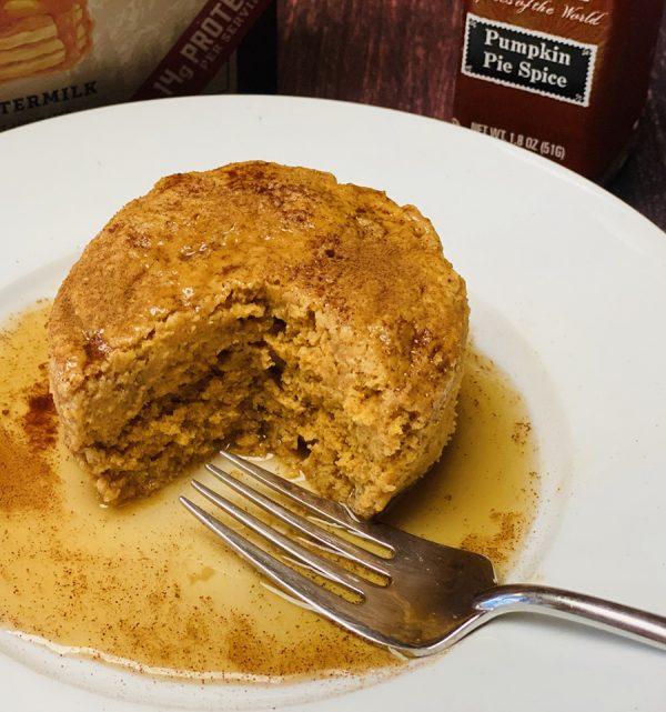 pumpkin protein pancake mug cake