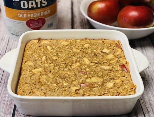 "Tom Venuto's High Protein Apple Cinnamon Baked Oatmeal (AKA ""Breakfast Apple Pie"")"